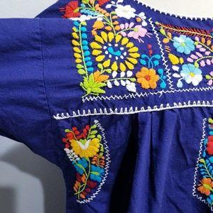 Vintage Dresses - Vintage 70's 80's ethnic embroidered boho dress